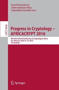 Progress in Cryptology - AFRICACRYPT 2016