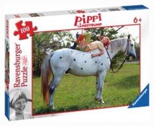 Ravensburger 10795 - Pippi und kleiner Onkel, XXL Puzzle, 100 Te
