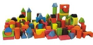Heros 100088001 - Holzbausteine Happy Colours 75