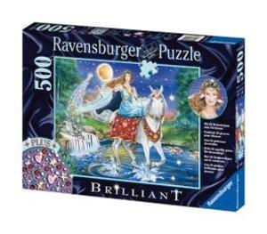 Ravensburger 14941 - Fee im Mondschein, 500 Teile Brilliant Puzz
