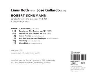 Sonatas for violin and piano op.105 & 121-4 son