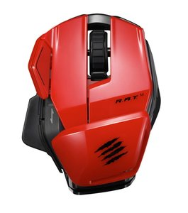 Mad Catz Office R.A.T. M - Rot - Mobile Funk-Maus für PC, Mac un