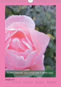 Flowerful Quoteful (Wall Calendar 2015 DIN A4 Portrait)