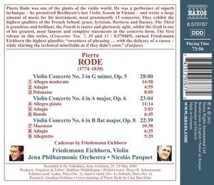 Violinkonzerte 3,4+6