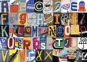 Buntes Alphabet. Puzzle 1000 Teile