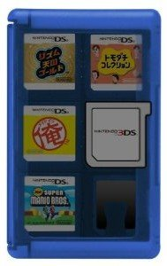 Nintendo 3DS - Game Card Cases Blau (24 Spiele)