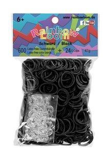 Rainbow Loom 22024 - Original Gummibänder schwarz, 600 Stück ink