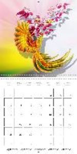 Parrots and Roses (Wall Calendar 2015 300 × 300 mm Square)