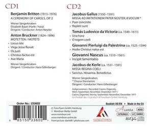 Wiener Sängerknaben:Britten,Bruckner,Gallus