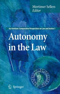 Autonomy in the Law