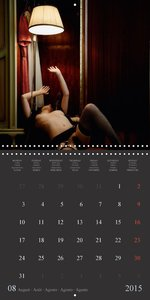 The Girl and the Standard Lamp (Wall Calendar 2015 300 × 300 mm