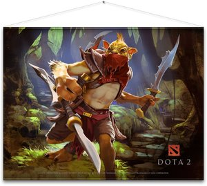 DOTA 2 - Wallscroll / Banner - Bounty Hunter