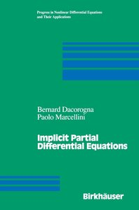 Implicit Partial Differential Equations