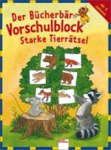 Der Bücherbär-Vorschulblock - Starke Tierrätsel