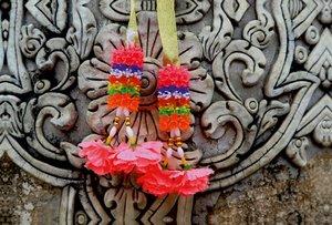 Premium Textil-Leinwand 120 cm x 80 cm quer Thailand, Tempelschm