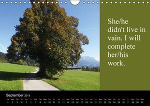 The Pathways of Mourning (Wall Calendar 2015 DIN A4 Landscape)