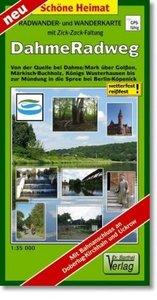Dahme-Radweg Radwander- und Wanderkarte 1 : 35 000