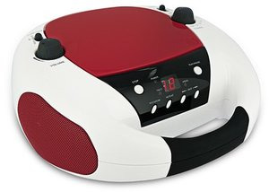 Tragbares CD-Radio CD52 - weiss/rot