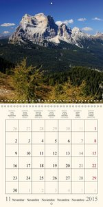 DOLOMITE ALPS - world natural heritage (Wall Calendar 2015 300 ×