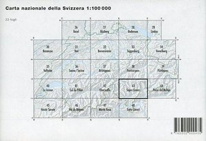 Swisstopo 1 : 100 000 Sopra Ceneri