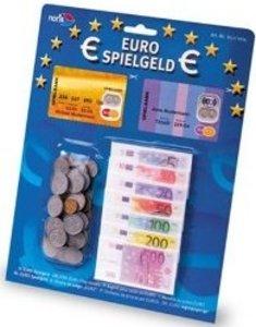 Zoch 606521014 - Spielgeld, Scheine und Münzen in Euro