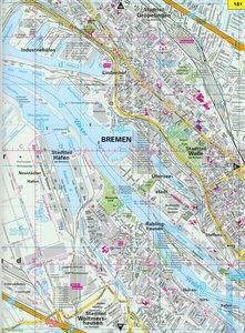 ADAC StadtAtlas Bremen mit Bremerhaven, Delmenhorst, Helgoland,