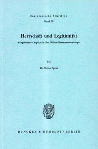 Herrschaft und Legitimität