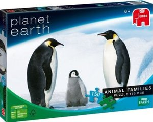 Jumbo Spiele - 150 Teile Puzzle, Planet Erde, Tierfamilie
