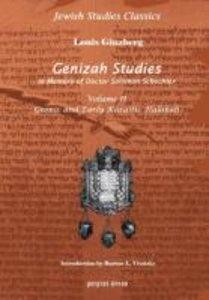Genizah Studies In Memory of Doctor Solomon Schechter