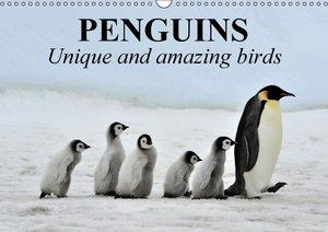 Penguins Unique and amazing birds (Wall Calendar 2015 DIN A3 Lan