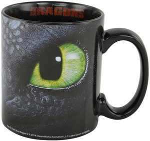 Dreamworks Dragons Tasse Ohnezahn & Hicks, 320ml, schwarz