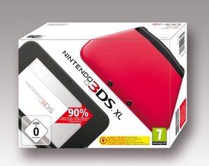Nintendo 3DS XL Konsole - rot / schwarz