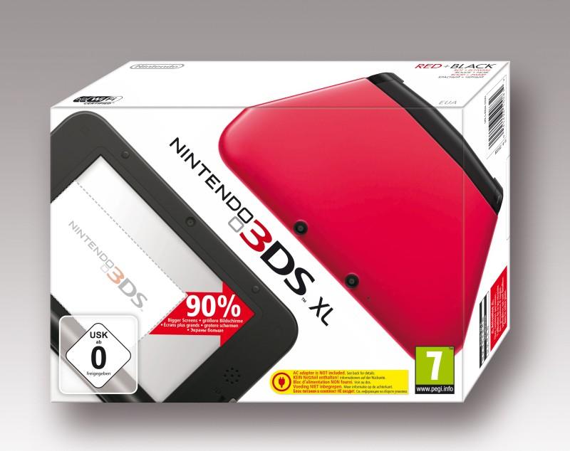 Nintendo 3DS XL Konsole - rot / schwarz - zum Schließen ins Bild klicken