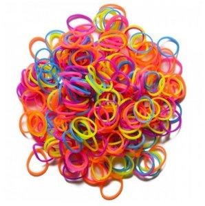 Rainbow Loom 21089 - Neon Mix, Original Gummibänder, 300 Stück i