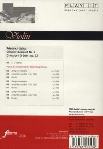 Study-CD Violin - Schüler-Konzert Nr.2,op.22,D-Dur