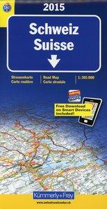 KuF Schweiz 2015. 1 : 301 000. Straßenkarte