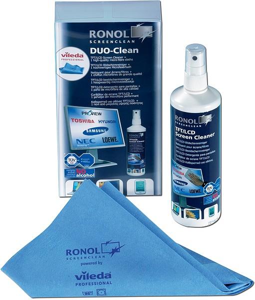 RONOL DUO CLEAN 250ml ScreenCleaner + 1 Vileda Mikrofasertuch - zum Schließen ins Bild klicken