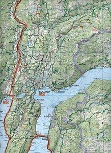 KuF Schweiz Radkarte 18 Lugano - Locarno - Bellinzona 1 : 60 000