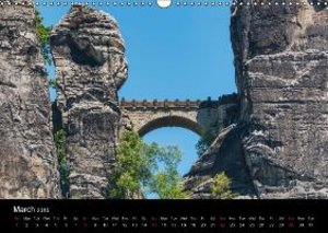 Saxon Switzerland / UK-Version (Wall Calendar 2015 DIN A3 Landsc