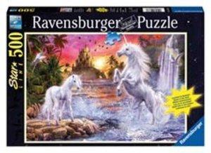 Einhörner am Fluss. Puzzle 500 Teile