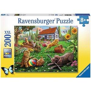 Ravensburger 12828 - Entdecker auf vier Pfoten, Puzzle 200 Teile