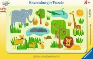Ravensburger 06061 - Lustige Afrikatiere, Puzzle, 15 Teile