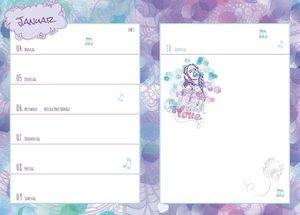 Violetta 17-Monatskalenderbuch A6 2016