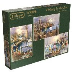Falcon. Fishing by the Sea. Puzzle 3 x 500 Teile