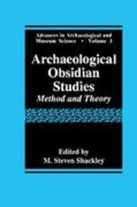 Archaeological Obsidian Studies