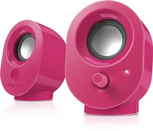 Speedlink SNAPPY Stereo Speakers, Lautsprecher, berry