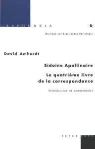 Sidoine Apollinaire: Le quatrième livre de la correspondance
