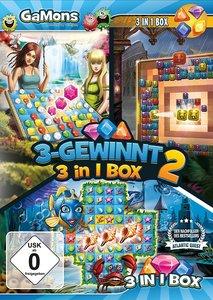 GaMons - 3-Gewinnt 3 in 1 Box 2. Für Windows Vista/7/8/8.1/10