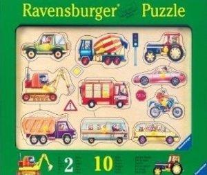 Ravensburger Puzzle. Auf der Straße. 10 Holzteile