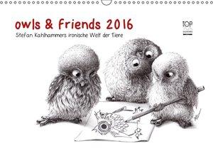 owls & friends 2016 (Wandkalender 2016 DIN A3 quer)